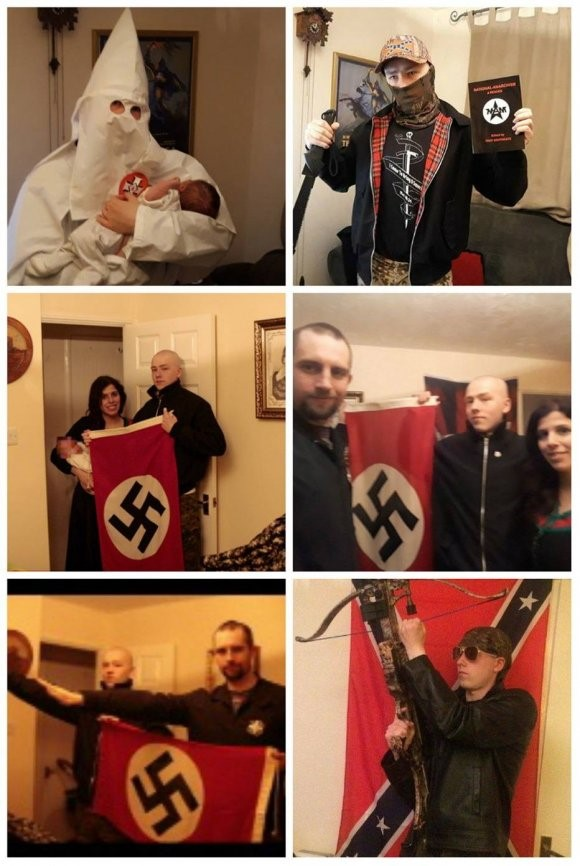 Casal supremacista que deu nome de Adolf
