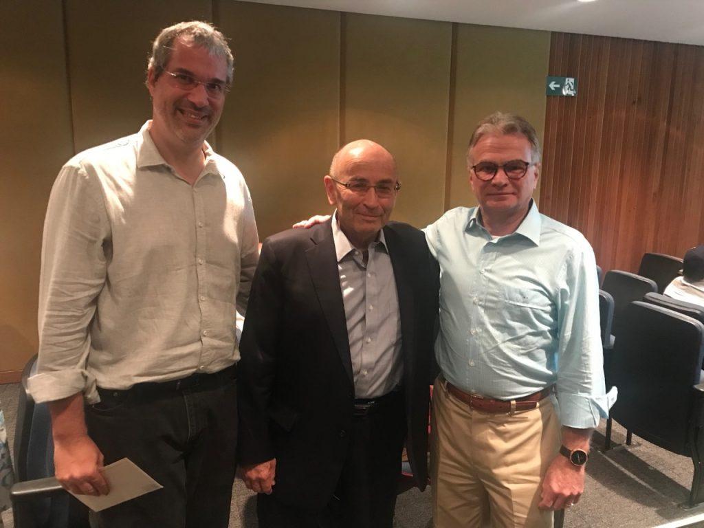 Rabino Michel Schlesinger, prof. Avigdor Scherz e Mario Fleck