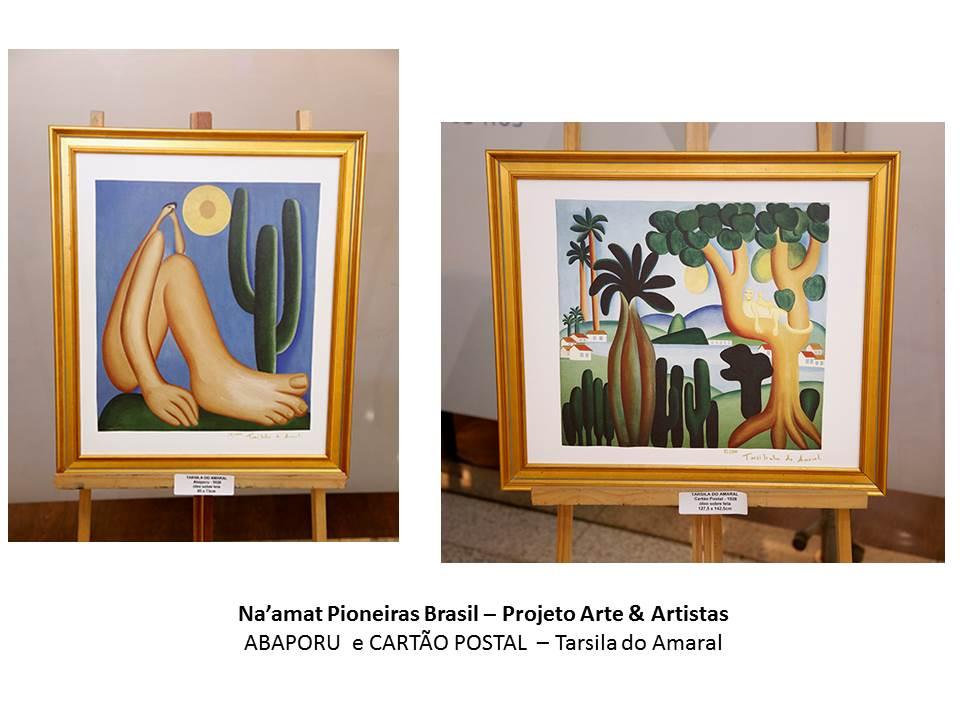Na'amat Pioneira Brasil - projeto ARte & ARtistas cartao postal abaporu