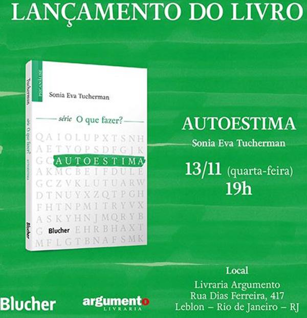 Sonia Eva Tucherman lança livro Autoestima