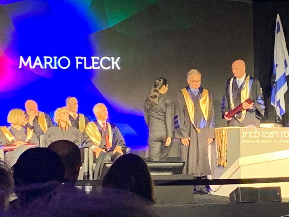 Mário Fleck recebe título de __Doutor em Filosofia Honoris Causa__ do Instituto Weizmann de Ciências