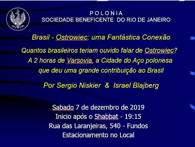 Sergio Niskier e Israel Blajberg proferem palestra sobre Ostrowiec