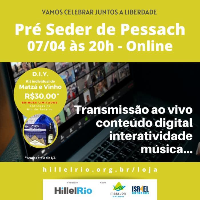 Pré-seder de Pessach online será realizado pelo Hillel Rio