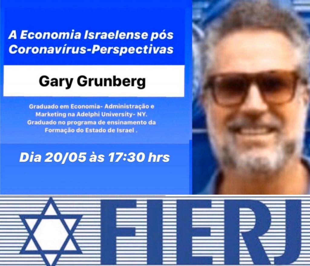 Gary Grunberg participa de live sobre a economia israelense