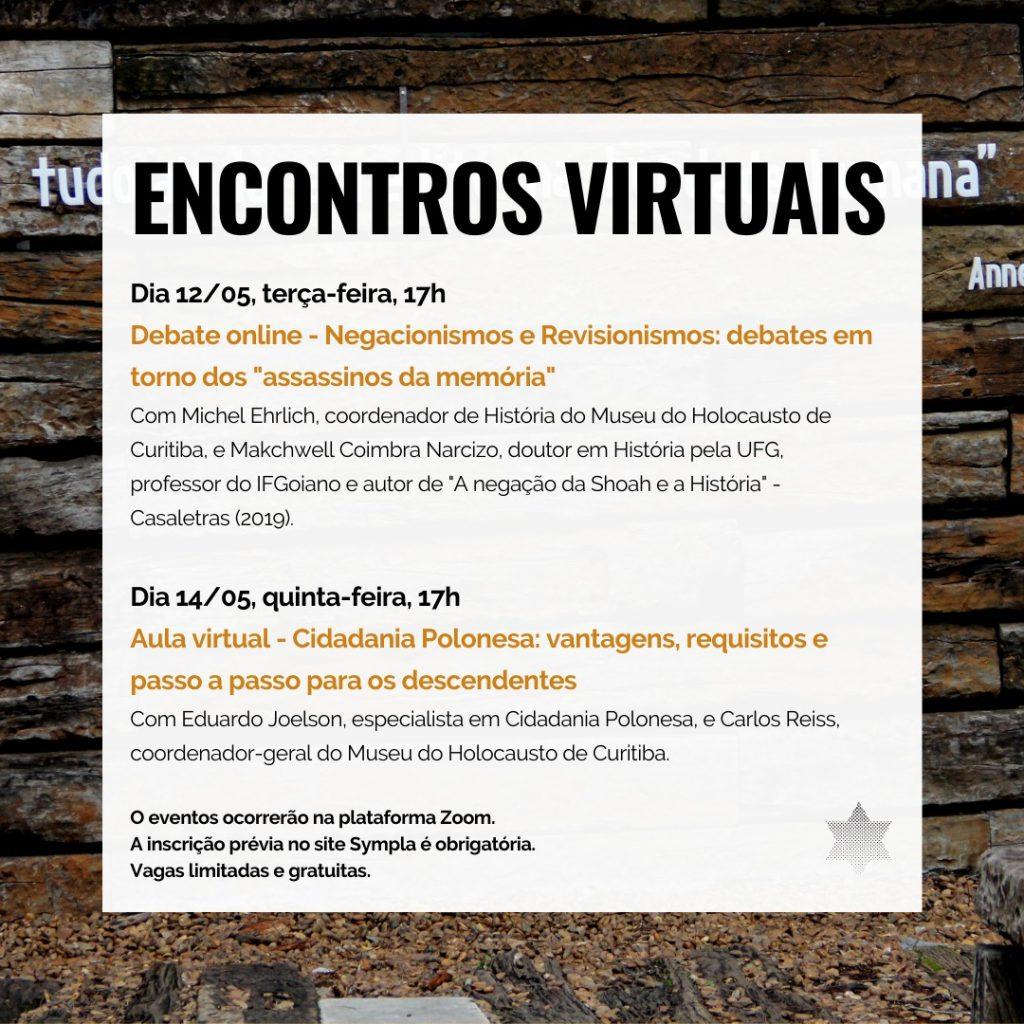 Museu do Holocausto de Curitiba promove encontros virtuais