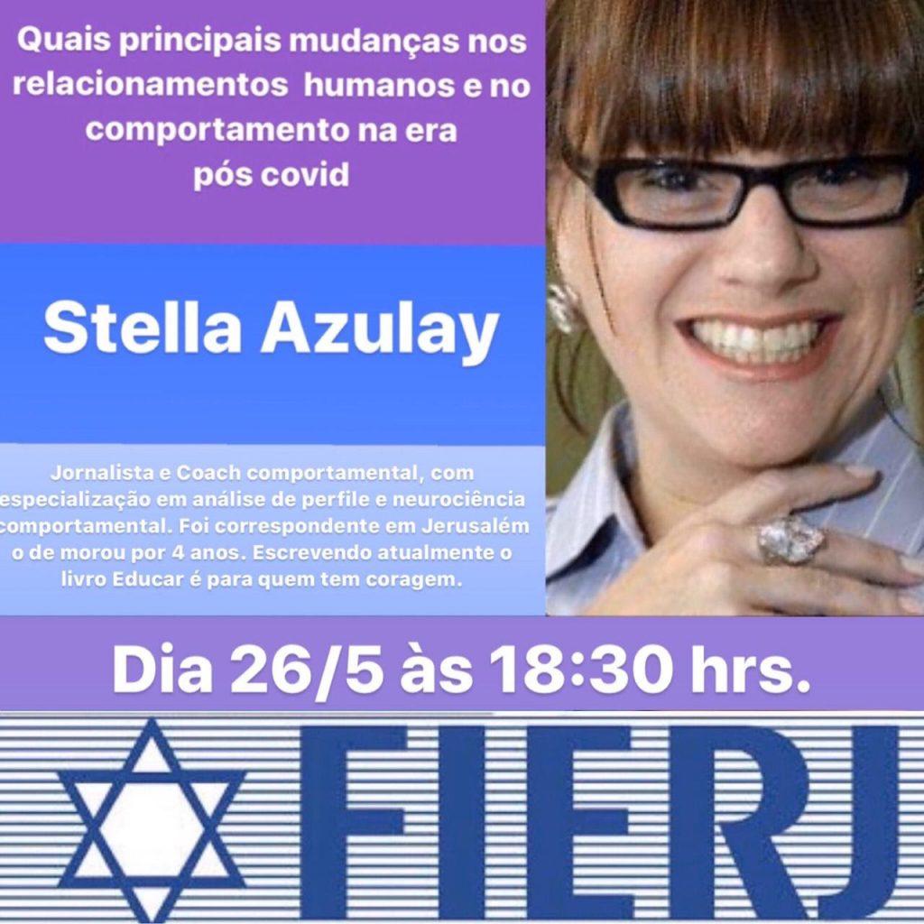 Stella Azulay participa de live sobre Quais principais mudanças nos relacionamentos humanos e no comportamento na era pós covid